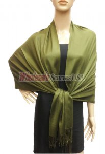 Premium Solid Pashmina Dark Green