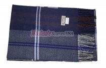 Cashmere Feel Plaid Scarf Navy #NY-573