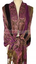 Paisley Flower Shawl Purple