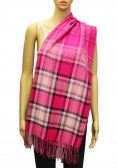 Plaid Scarf Hot Pink