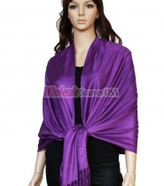 Super Solid Pashmina Bright Purple