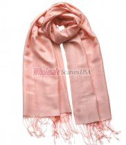 Paisley Jacquard Shawl Light Coral
