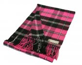 Woven Checker Scarf 48 Hot Pink/Black