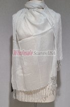 Sheer Metallic Scarf White/Silver