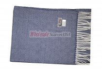 Cashmere Feel Square Pattern Scarf Navy