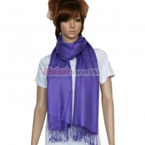 Solid Pashmina Purple Dozen (12 pcs)