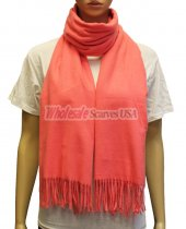 Cashmere Feel Pashmina Coral