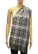 Plaid Scarf Dark Grey