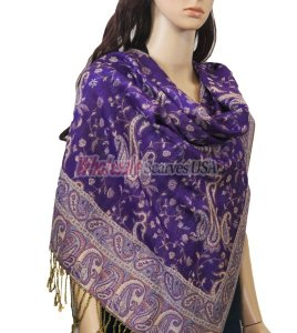 Small Paisley Scarf Purple