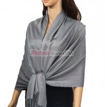 Solid Pashmina Ash Grey (NEW)