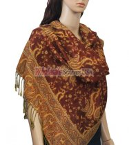 Small Paisley Scarf Rust Brown
