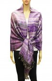 Geometry Pattern Scarf BH1805 Purple