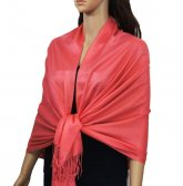 Solid Pashmina Watermelon Pink