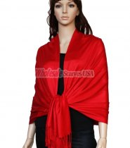 Super Solid Pashmina Red