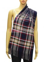 Plaid Scarf Navy