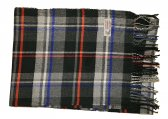 Cashmere Feel Plaid Scarf Dark Grey #33-2