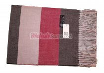 Cashmere Feel Stripe Scarf Brown/Red
