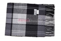 Cashmere Feel Plaid Scarf Dark Grey/Black
