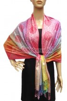 Pashmina Colorful Paisley Light Pink