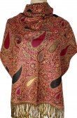 Thicker Paisley Shawl Pink/Gold