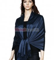 Super Solid Pashmina Navy
