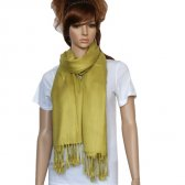 Solid Pashmina Golden Rod