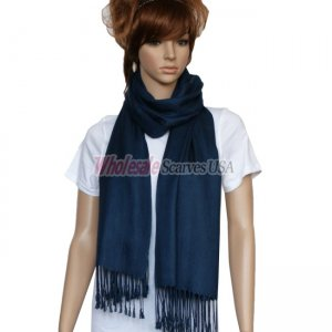 Solid Pashmina Navy