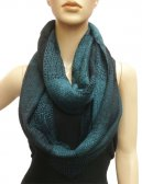 Wholesale Infinity Knit Scarf Teal/Black