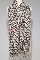 Leopard Print Scarf Brown/White