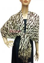 Pashmina Zebra Print Brown/White