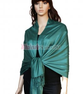 Super Solid Pashmina Pine Green