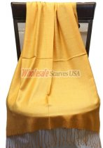 Silky Light Solid Pashmina Golden Yellow