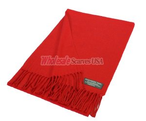 Woven Plain Scarf Red
