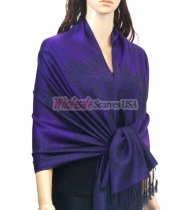 Phenix Tail Light Shawls Eggplant