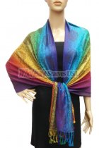 Pashmina Colorful Paisley Purple/Green