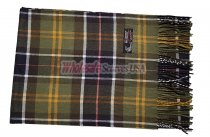 Cashmere Feel Plaid Scarf Olive Green