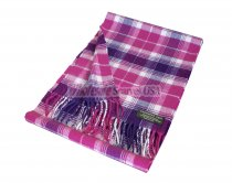 Woven Checker Scarf A64 Pink/Purple