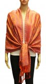 Wholesale Gaint Paisley Pashmina Orange