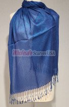 Sheer Metallic Scarf Royal Blue