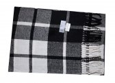 Cashmere Feel Plaid Scarf Black/White #53754