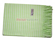 Cashmere Feel Pattern Scarf Mint