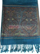 Wholesale Paisley Heart Pashmina Teal