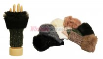 Winter Fingerless Snow Knit Gloves 1 DZ, Asst. Color