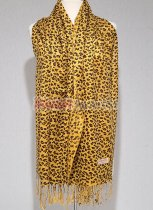 Leopard Print Scarf Yellow/Brown