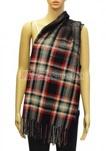 Plaid Scarf Black