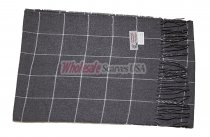 Cashmere Feel Plaid Scarf Charcoal