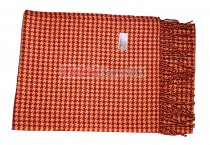 Cashmere Feel Pattern Scarf Orange/Red