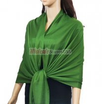Solid Pashmina Forest Green