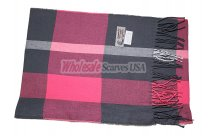 Cashmere Feel Plaid Scarf Pink/Grey
