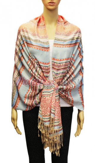 Geometry Pattern Scarf BH1803-08 - Click Image to Close